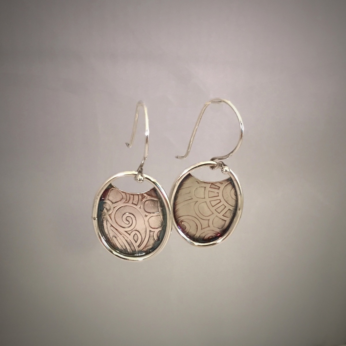 Banded Oval Earrings  (large view)