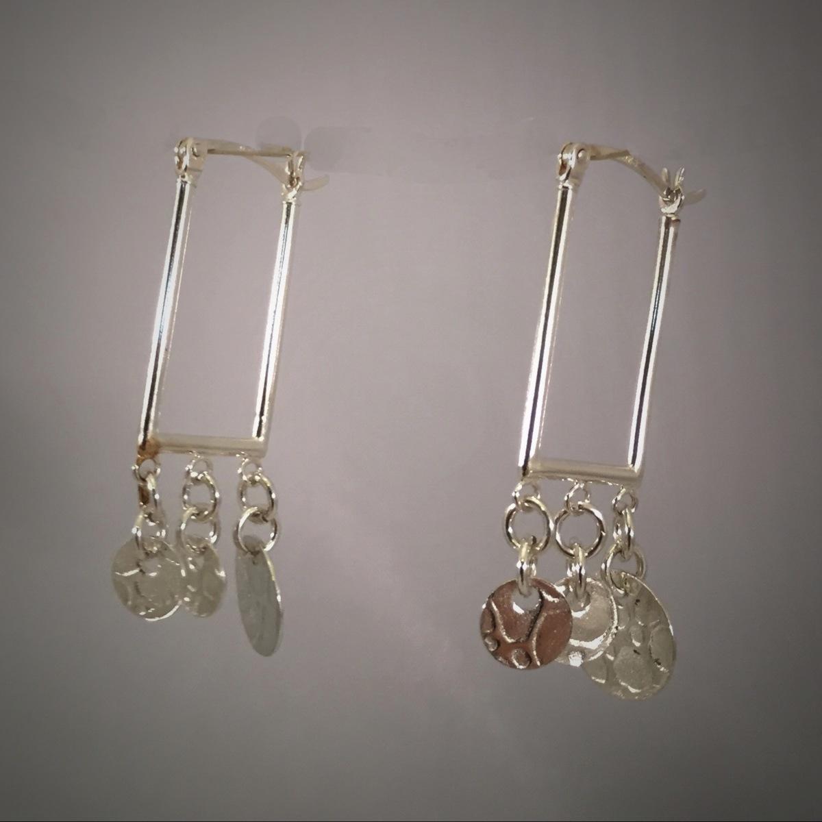 Kinetic Spangle Rectangle Earrings (large view)