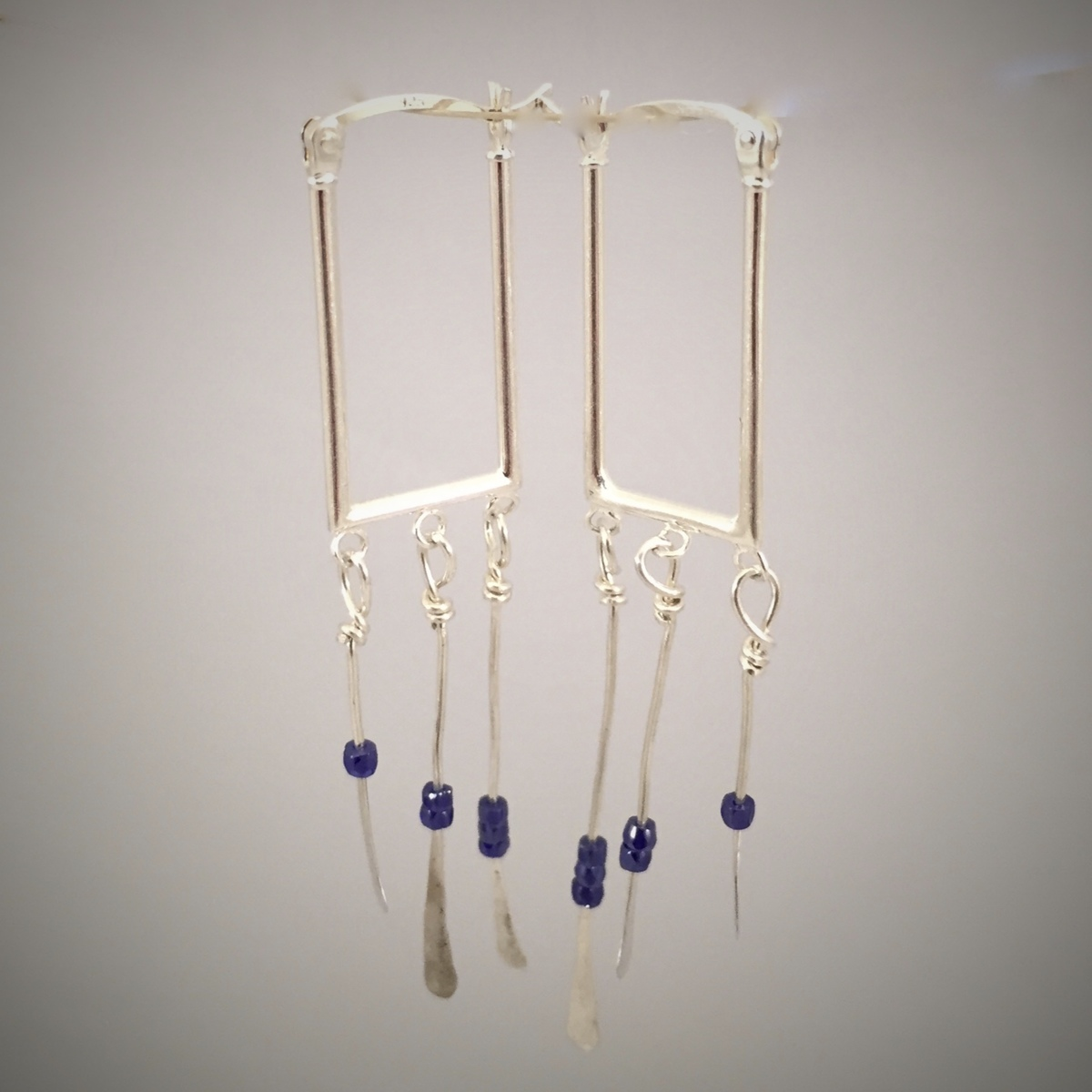 Kinetic Beaded Icicle Earrings (large view)