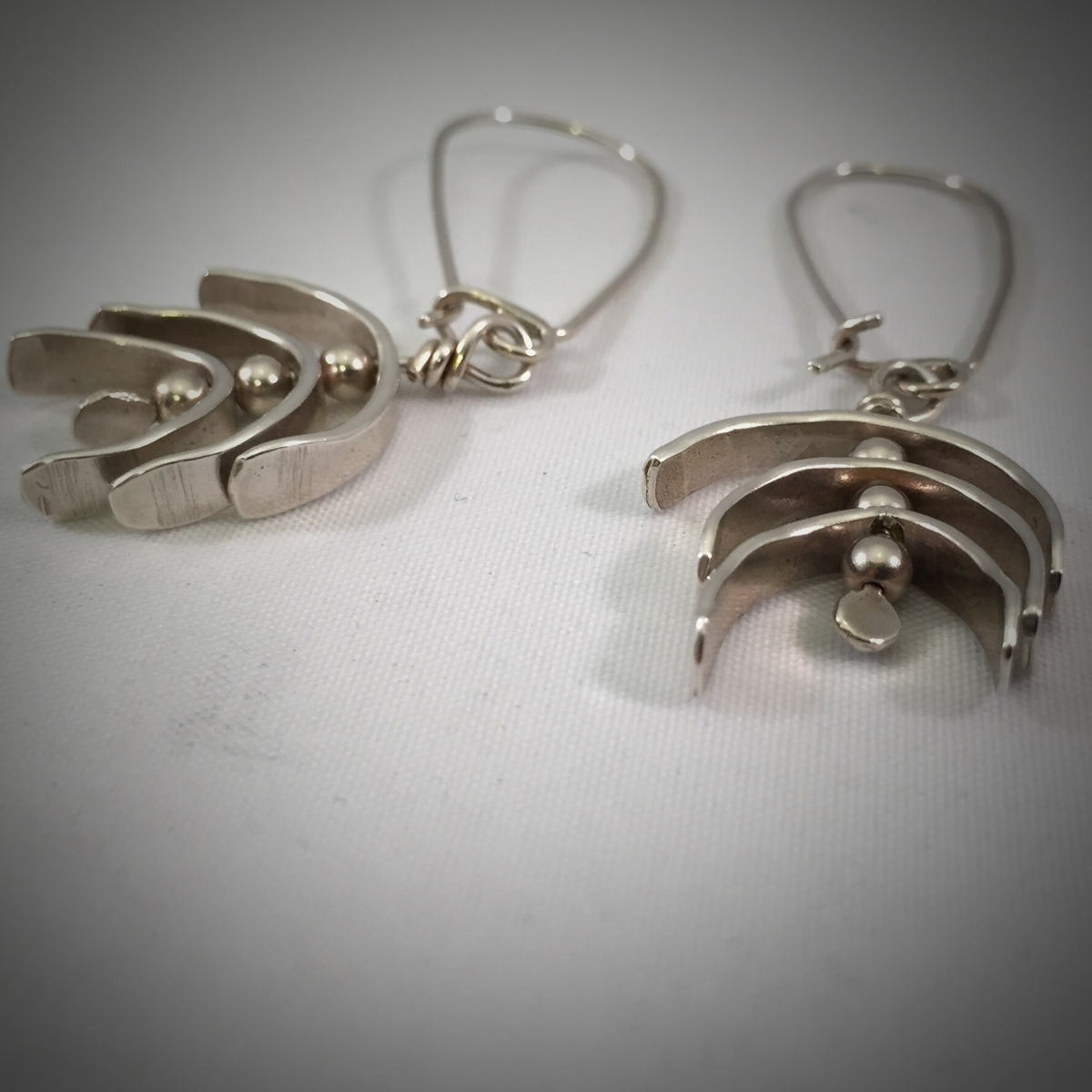 Kinetic Silver Whirligig Earrings 1 (large view)