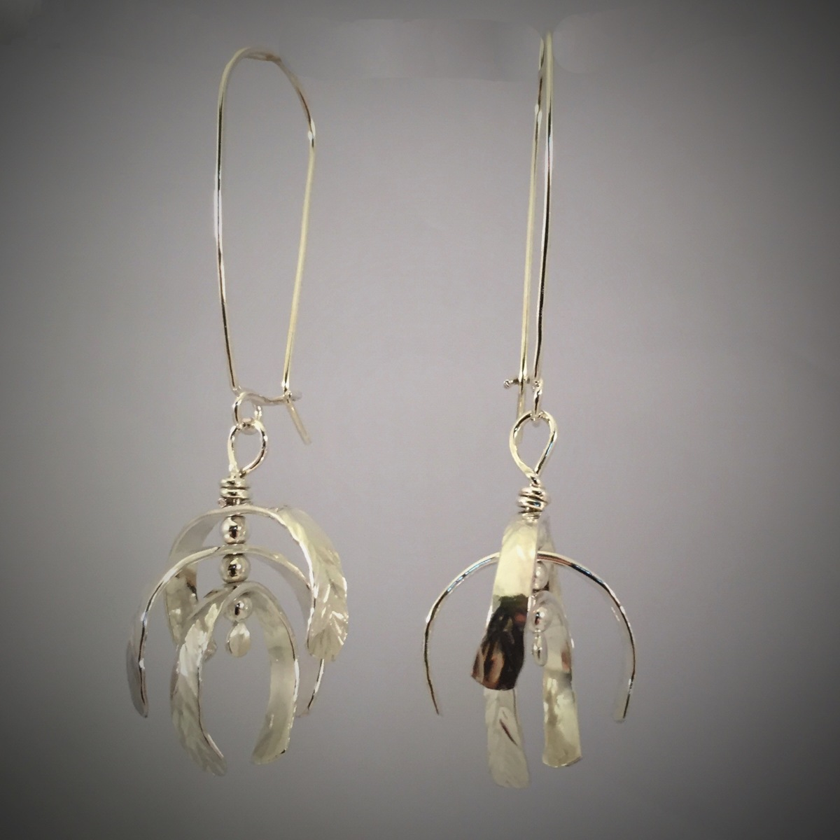 Kinetic Silver Whirligig Earrings 2  (large view)
