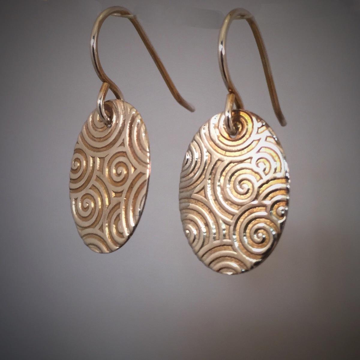 Kinetic Swirl Series Earrings 5  (large view)
