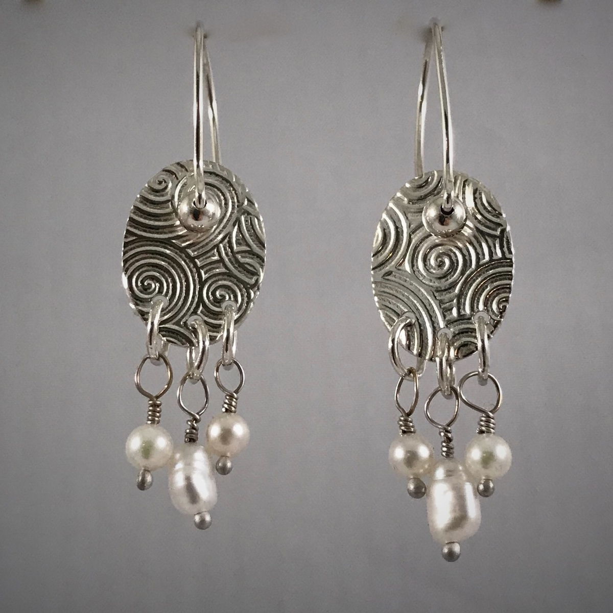 Kinetic Silver Pearl Drops (large view)