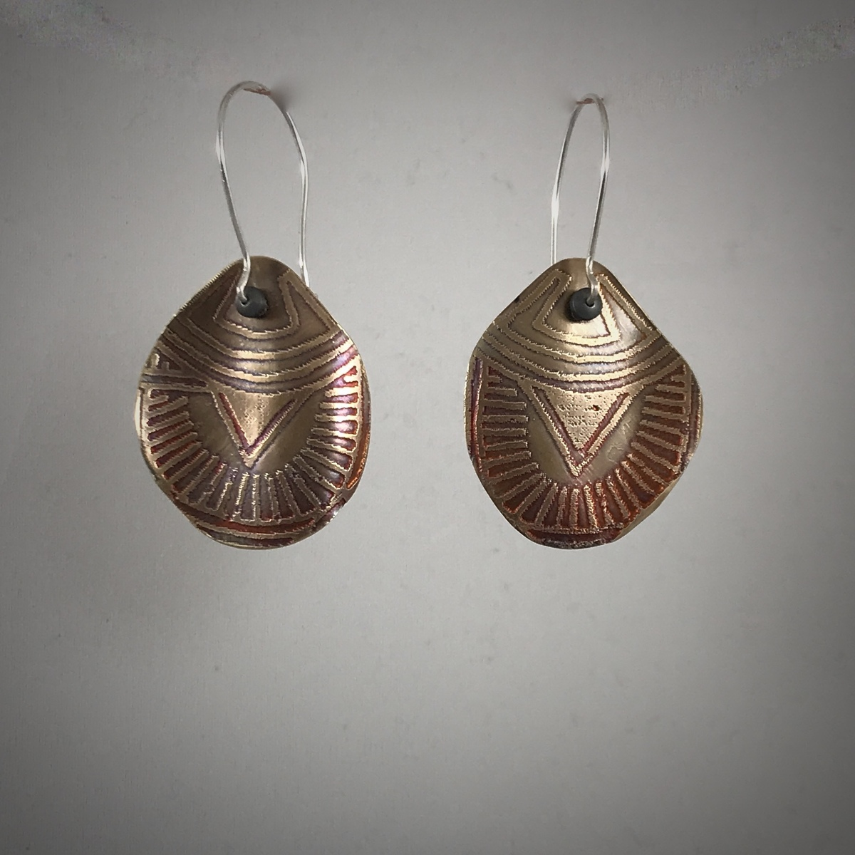 Tribal Bronze Earrings #1 (large view)