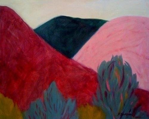 White Mountain Range Pinks & Greens
