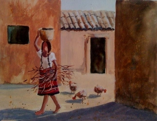 Village Girl Teotitlan Mexico