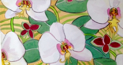 White Orchid Pattern