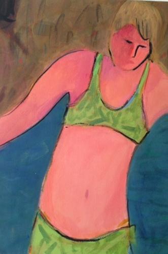 Figure in Green Bikini