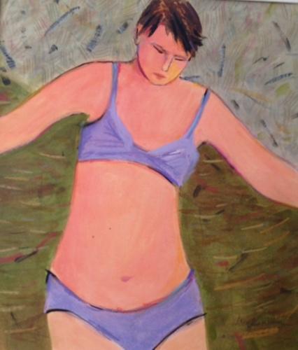 Figure in Purple Swimsuit