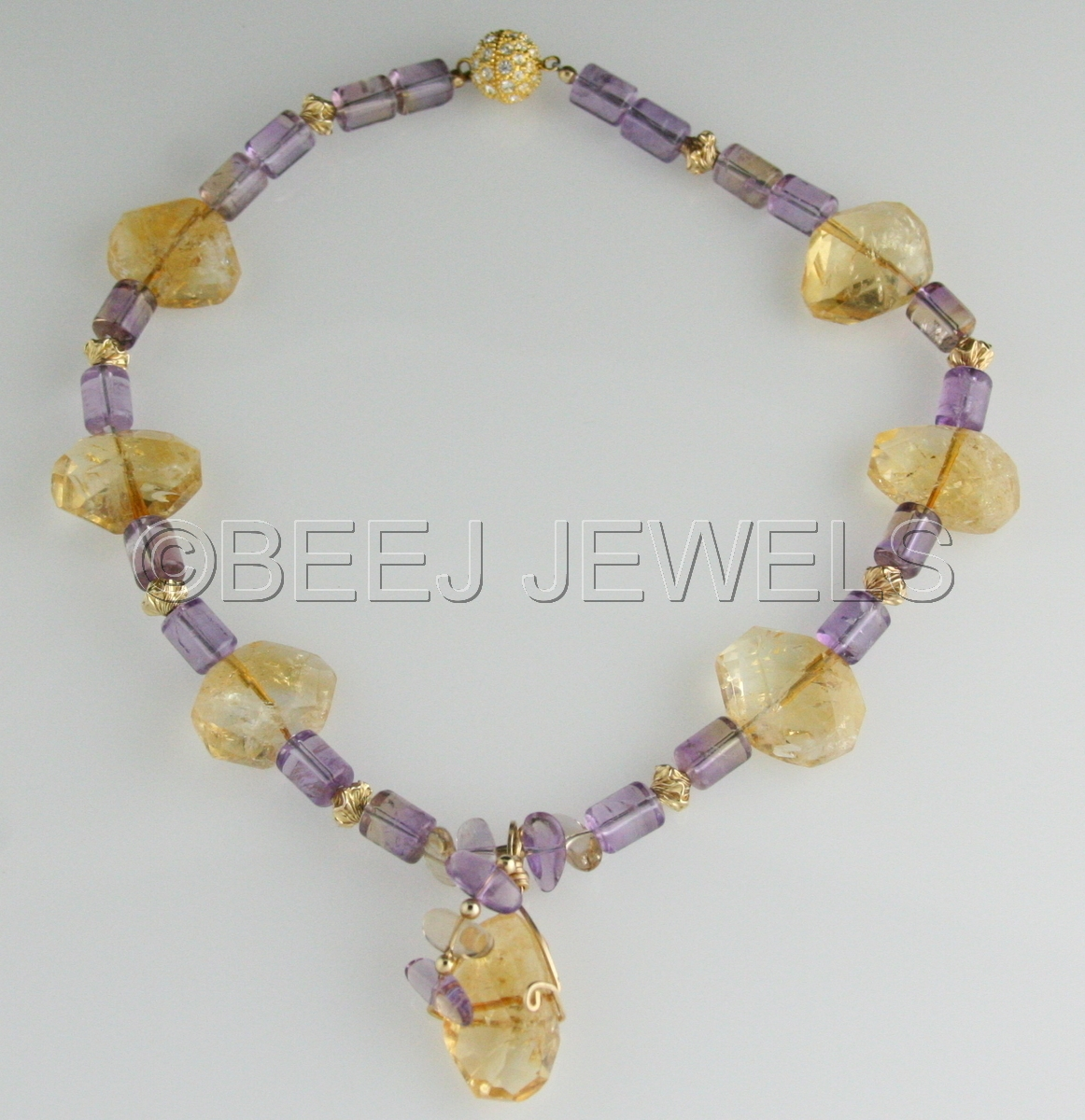 Citrine Ametrine Necklace - ALYA (large view)