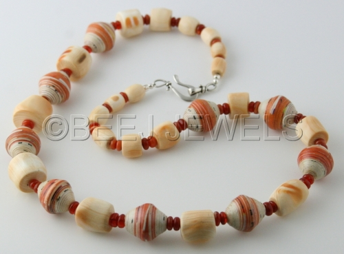 Mexican Fire Opal Coral Necklace - BAHAM