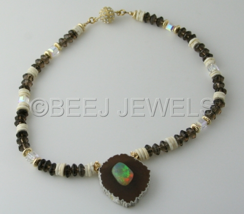 Wollo Ethiopian Opal Necklace - CANOPUS