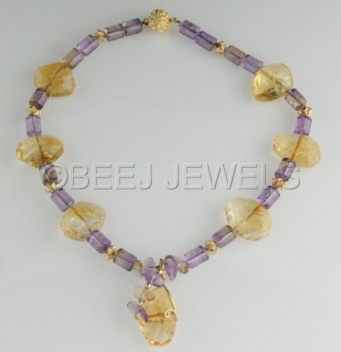 Citrine Ametrine Necklace - ALYA