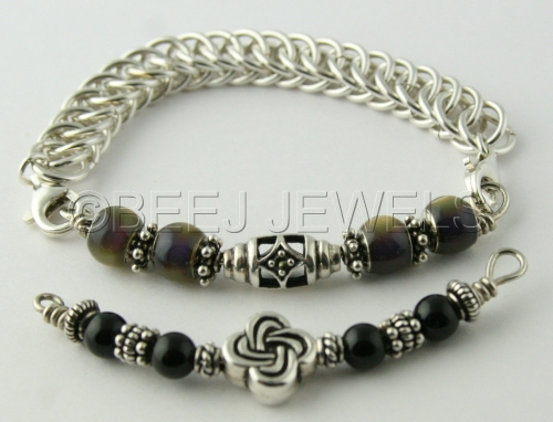 Persian Sterling Silver Chainmaille Bracelet - ALGIEBA