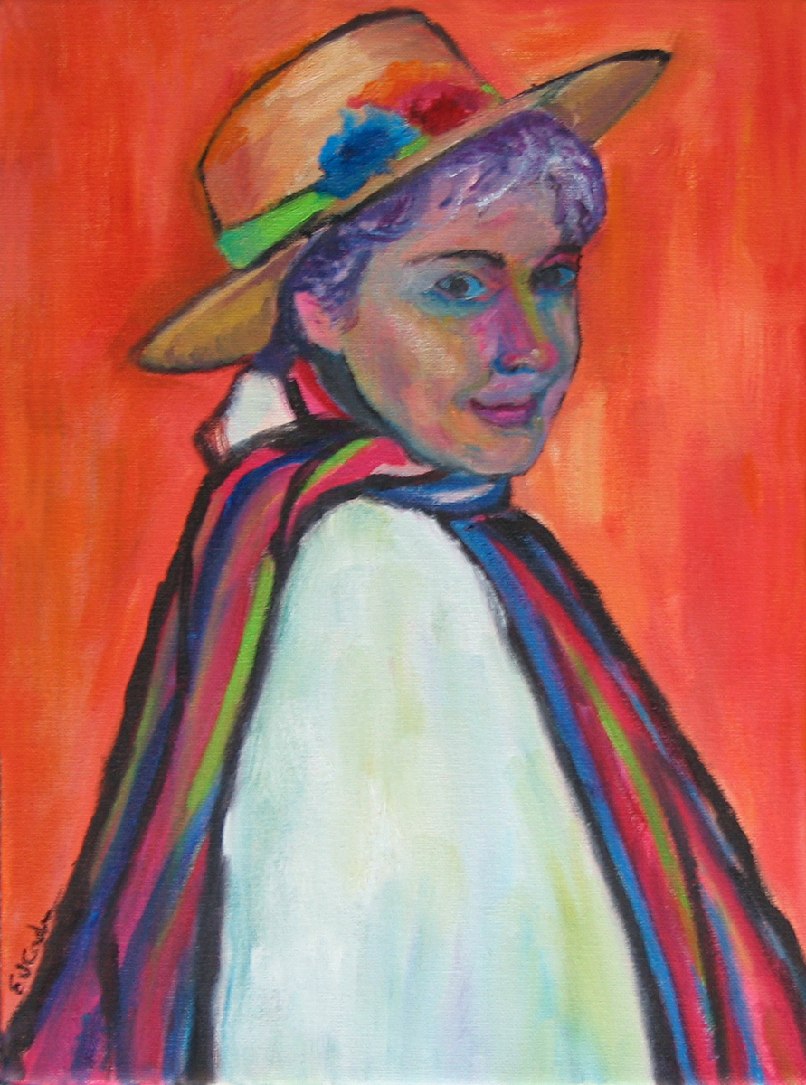 Self Portrait, hommage to Gabriele Munter (large view)