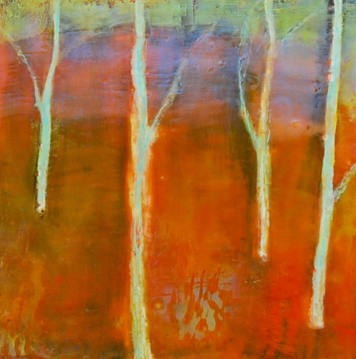 Landscape Encaustic Paintings: Saturated By Camille Davidson