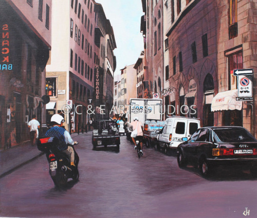 Morning Rush in Florence