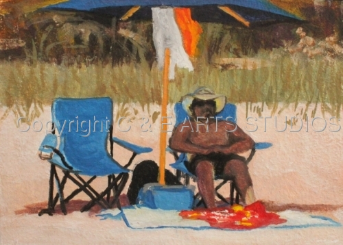 """Myrtle Beach V Study  """"In the Shade"""" (large view)"""