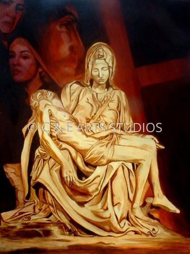 Portrait of the Pieta by C & E ARTS STUDIOS