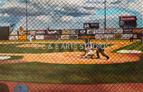 Richmond Braves with Toledo at Bat by C & E ARTS STUDIOS