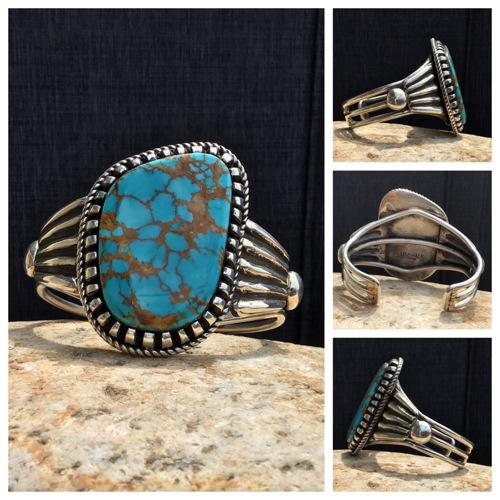 Royston Turquoise Cuff by V & C Hale Jewelry