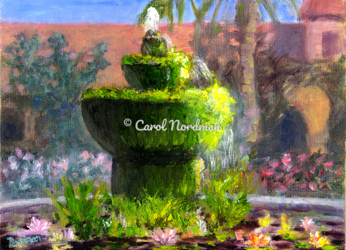 Mission Fountain  by Carol Nordman