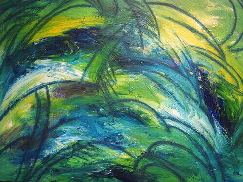 Spring Dressed in Emerald Green by Carol Beth Rodriguez