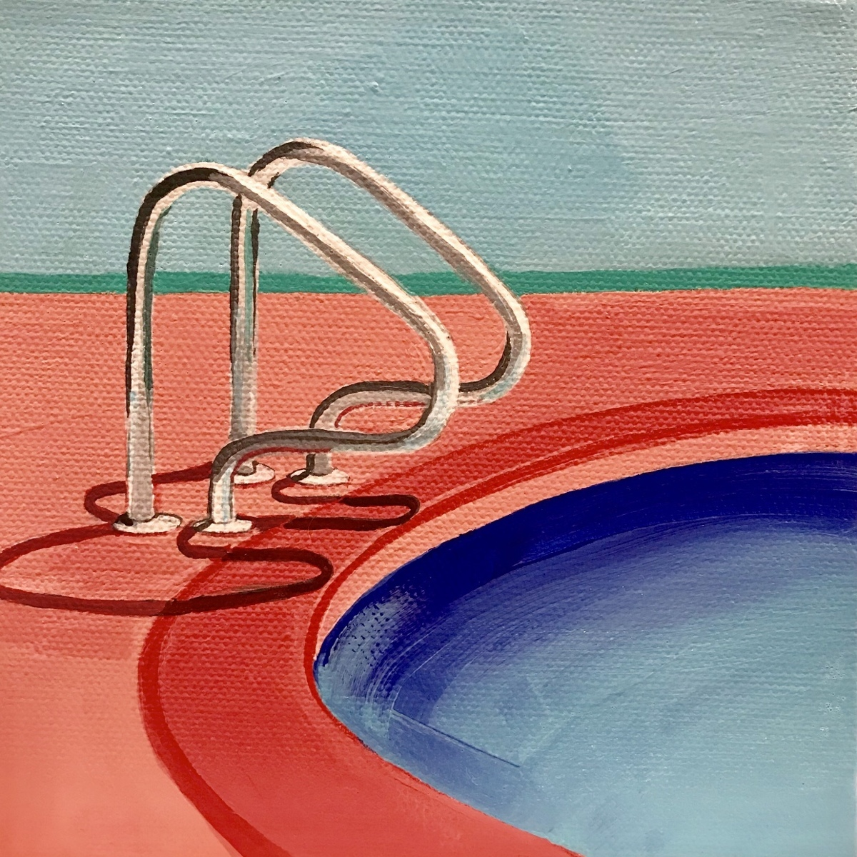 """""""Pink Poolside"""" (large view)"""