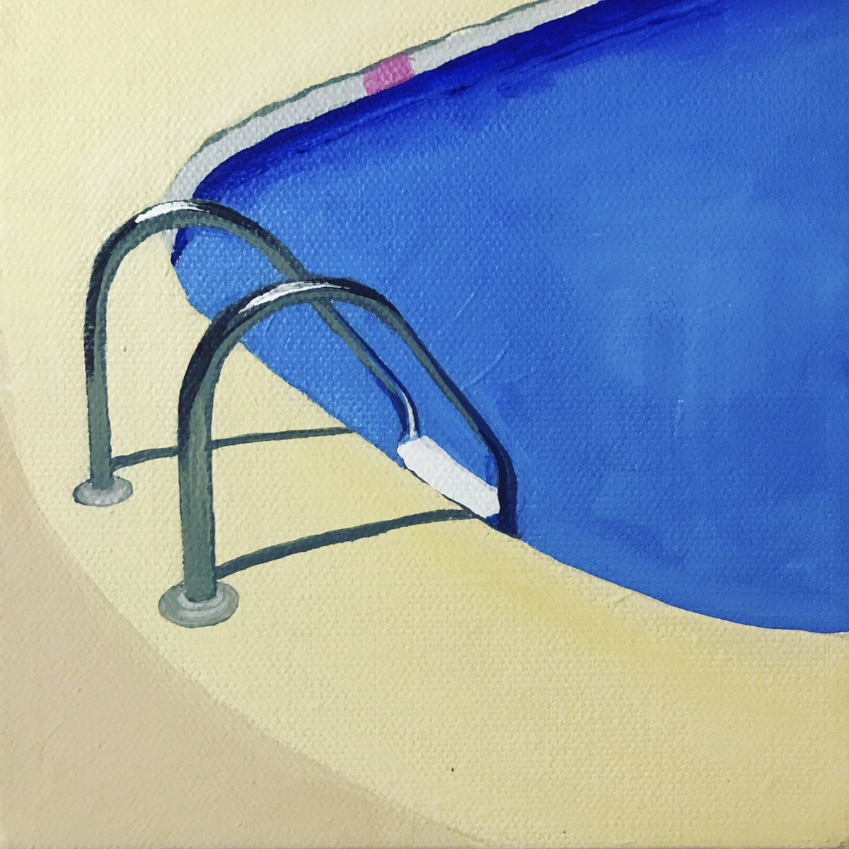 """""""Yellow Poolside"""" (large view)"""