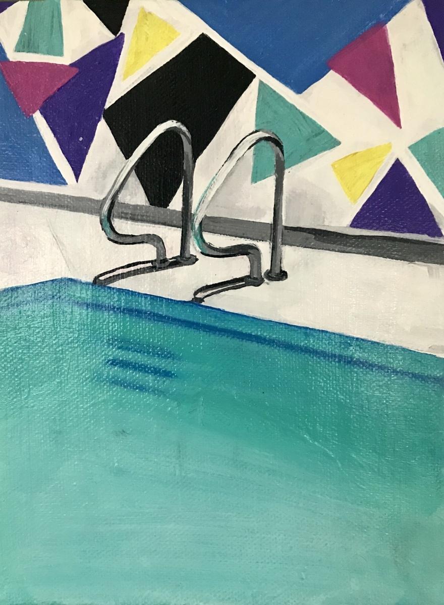 """""""Graffiti Pool (Study)"""" (large view)"""