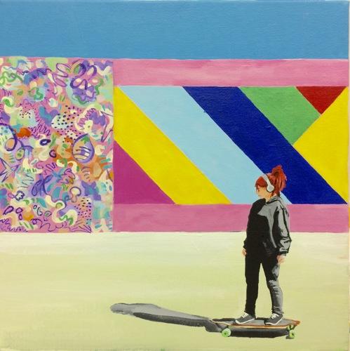 """""""Longboarder"""" by Carmen Smith"""