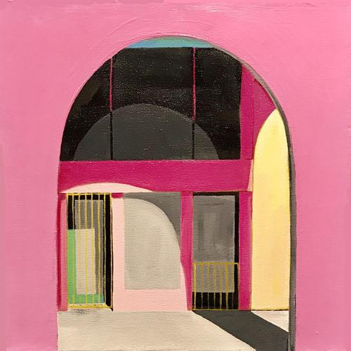 """Pink Arcade (Flamingo)"" (large view)"