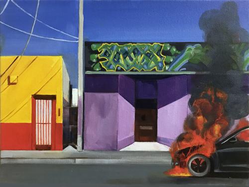 Car Fire by Carmen Smith