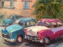 Taxis waiting, Cuba (thumbnail)