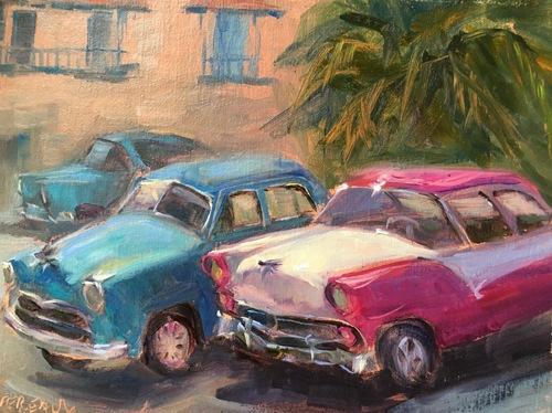 Taxis waiting, Cuba