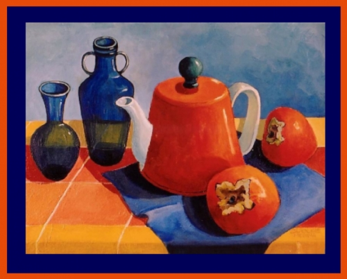 Orange Teapot & Persimmons - Weekly Special