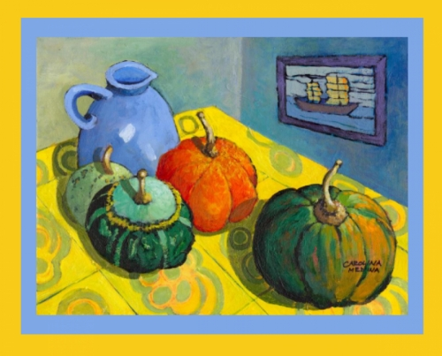 Gourds on a Yellow Table - Weekly Special