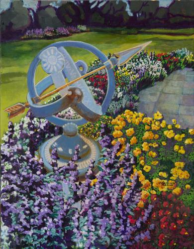 16 - Garden with Armillary Sundial
