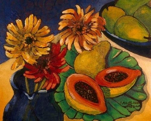 10 - Daisies and Papaya