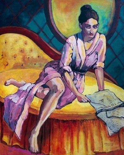 3 - Woman on a Yellow Recamier by CAROLINA DE MEDINA