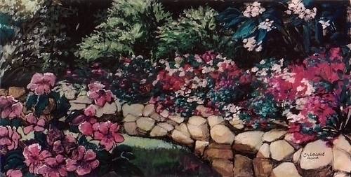 8 - Stone Wall with Impatiens