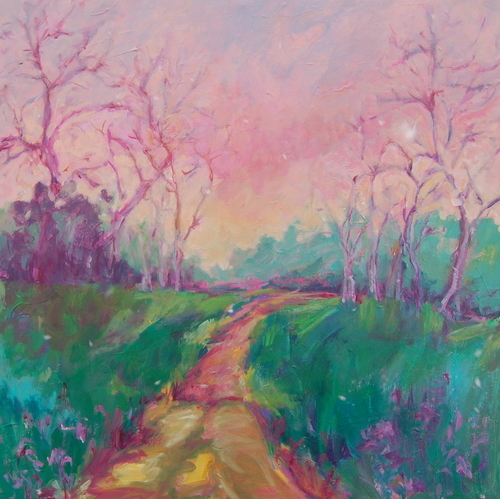 Sunlit Walk by Medhurst Paintings
