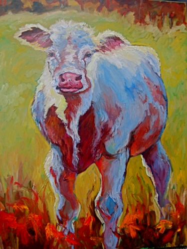 California Cow by Medhurst Paintings