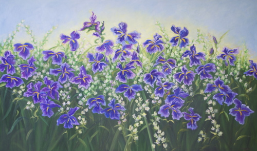 Purple Praises by Medhurst Paintings