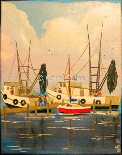 Shrimp Boats Triptych Panel 3