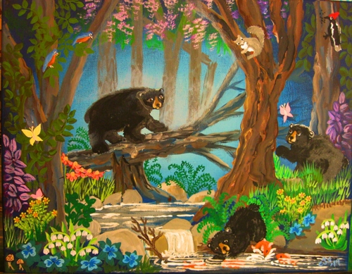 Bear Cubs Exploring Their World