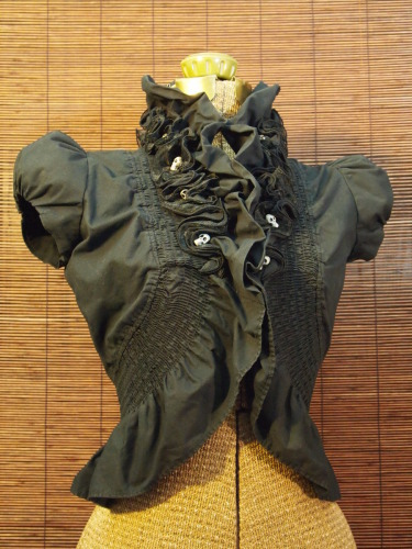 Neo-Victorian Bolero with Guardian Skulls