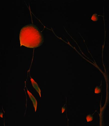 Red Leaf Study by CAROLYN  ADAMS