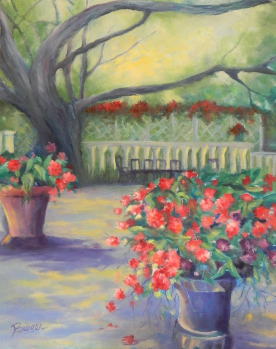 "My Secret Garden: Painting : ""My Secret Garden"" (Original Art By Carolyn"