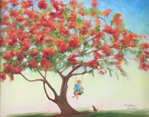 Carefree Under The Poinciana Tree